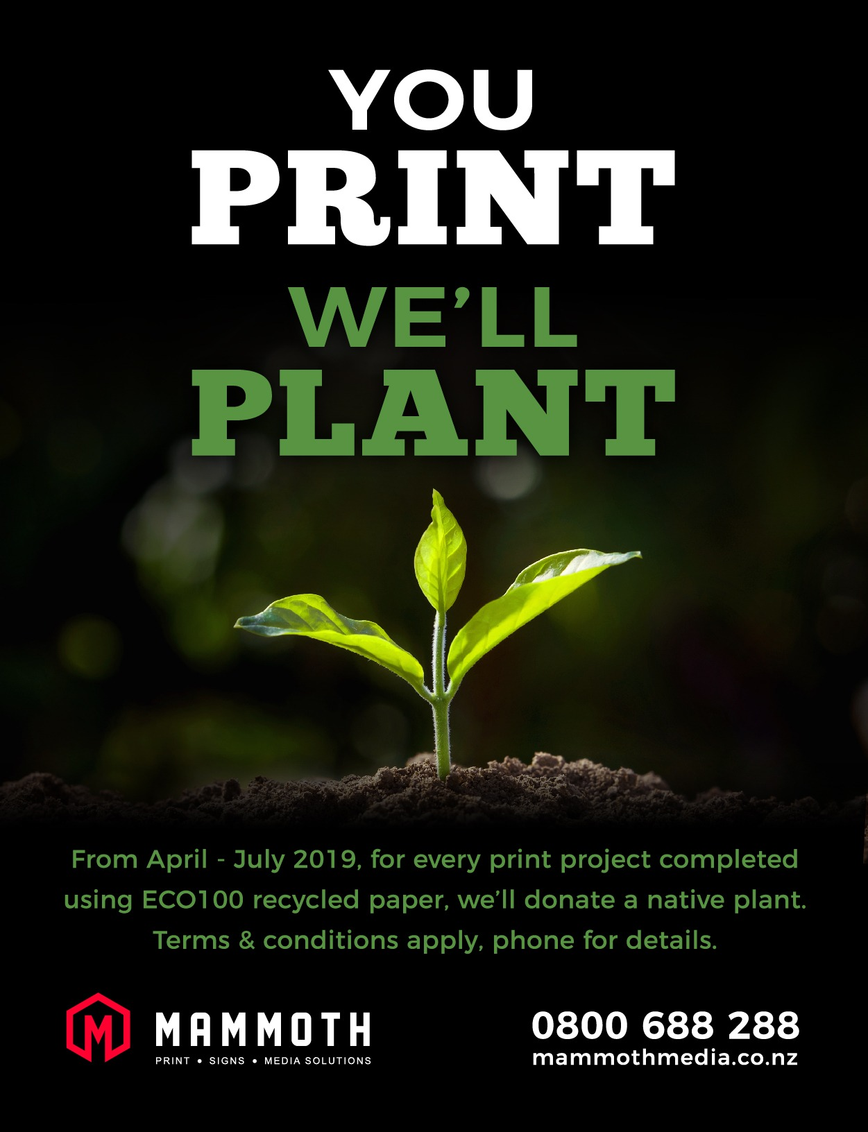 Mammoth - You Print We'll Plant