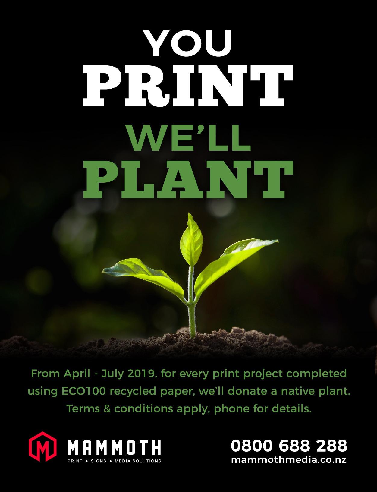 Mammoth - You Print We'll Plant