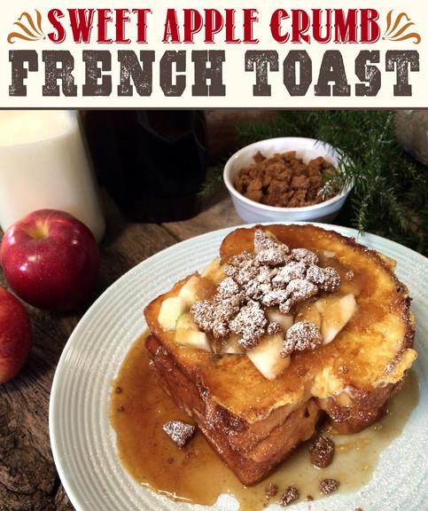 Sweet Apple Crumb French Toast