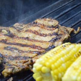 X Jerk Chicken and Corn on grill.JPG