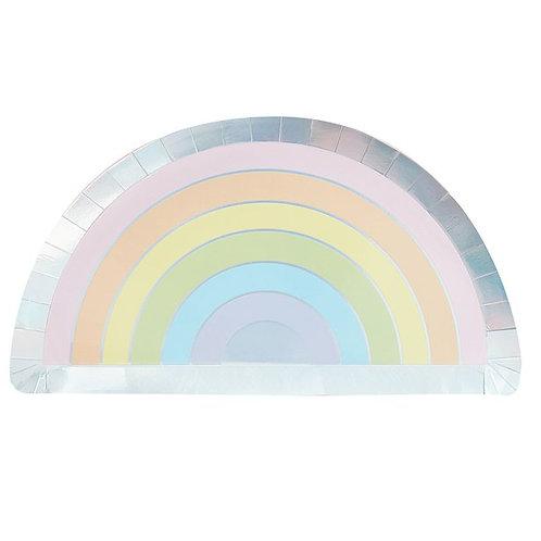 Iridescent Rainbow Paper Plate