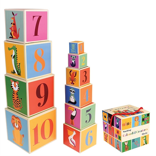 Colourful Creatures Stacking Block