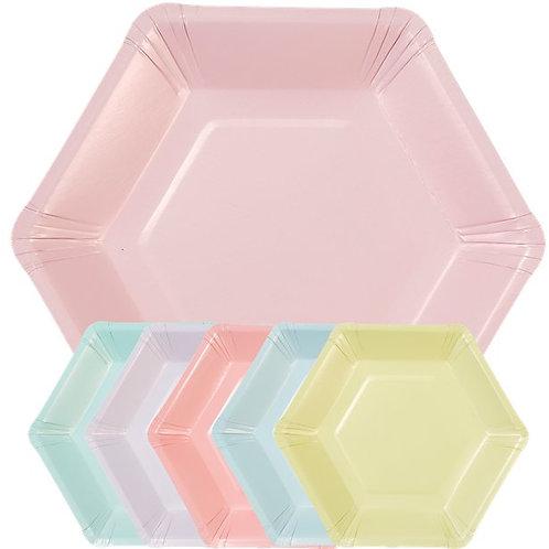 Pastel Mix Hexagonal Mini Plates