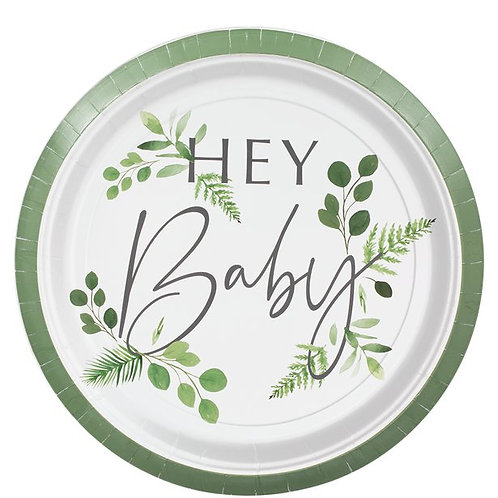 Botanical Baby Paper Party Plates