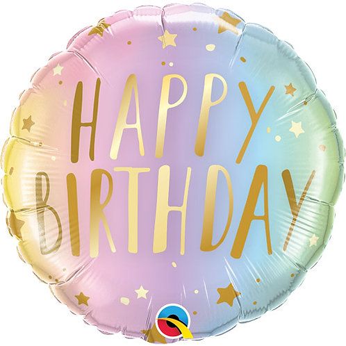 "Pastel Birthday Foil Balloon - 18"""