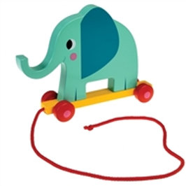 Elvis The Elephant Wooden Pull Along