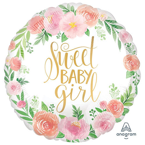 Sweet Baby Girl Foil Balloon - 18 Inch