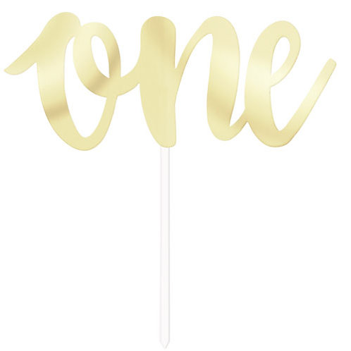 Gold Foil 'One'Cake Topper