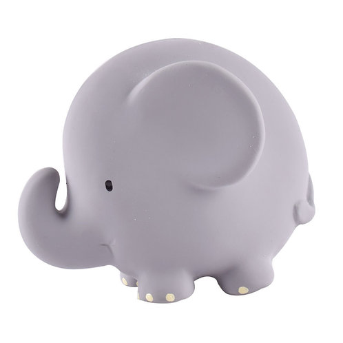 Elephant Natural Rubber Rattle & Bath Toy