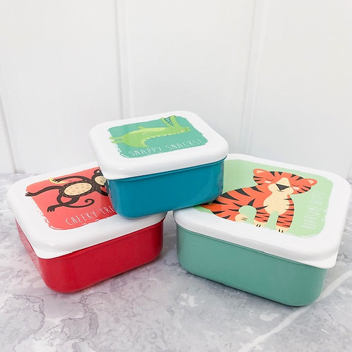 Set of 3 Animal Zoo Lunch Boxes