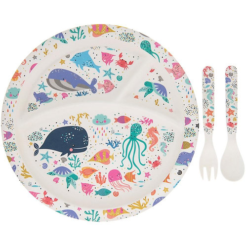 Bamboo Sea Life Eating Set