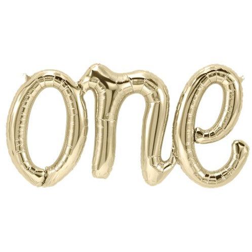 "One Script Phrase Gold Balloon - 30"" Foil"