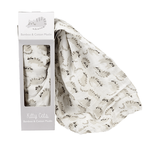 Kitty Cats Swaddling Blanket