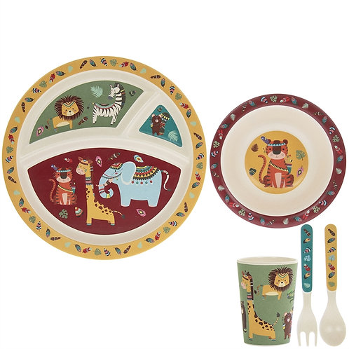 Wild Jungle Bamboo Dinner Set