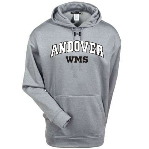 Grey Under Armour West Middle Hoodie