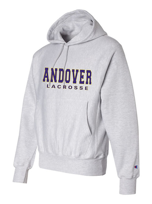 Silver Grey Champion Hoodie Andover Lax