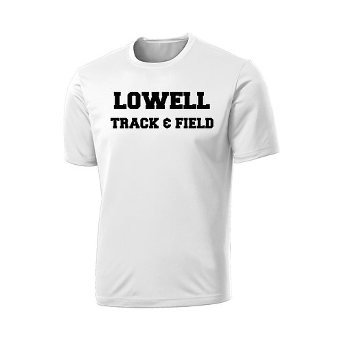 Men's White Performance Tee Lowell Track