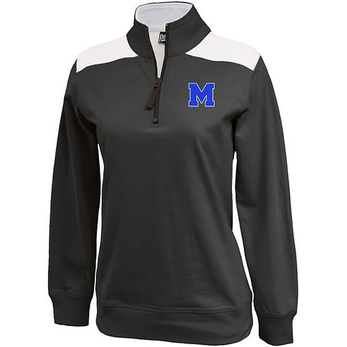 Womens Black Pennant Quarter Zip