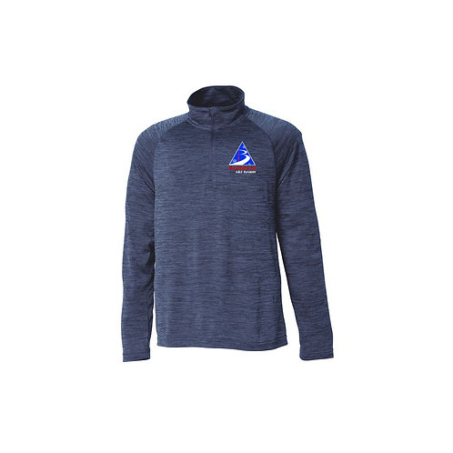 Men's Navy Space Dye Performance Pullover Bradford Ski