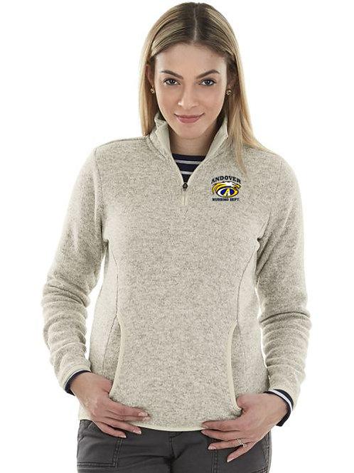 Navy or Oatmeal Heather Women's Fleece Pullover Andover Nursing