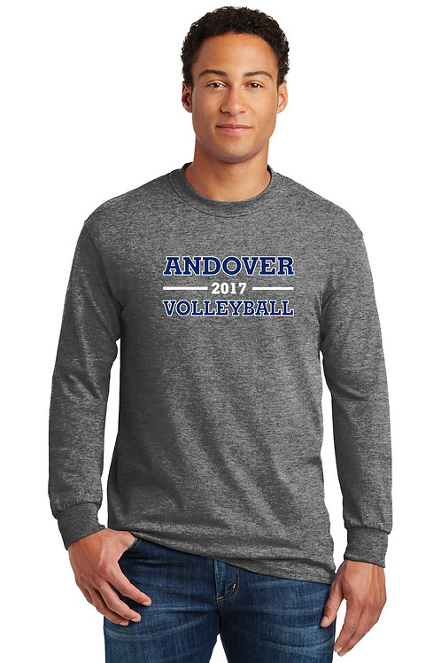 Gray Gildan long sleeve shirt AHS Volleyball