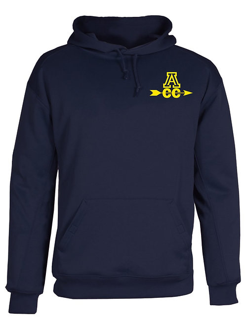 Navy Badger Performance Hooded Sweatshirt