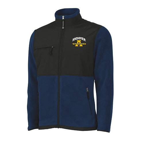 Men's Charles River Navy and Black Full Zip Fleece Jacket AHS