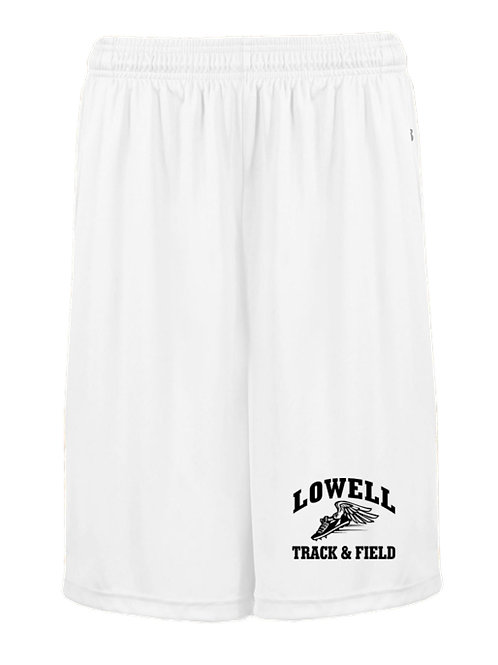 White Badger Basketball Shorts /w Pockets Lowell Track