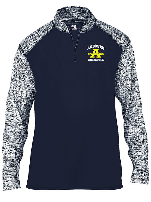 Navy Badger Sport Blend Cheer 1/4 Zip AJFL