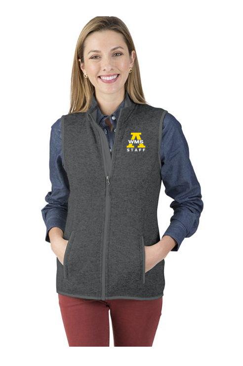 Women's Charles River Pacific Heather Fleece Vest WMS