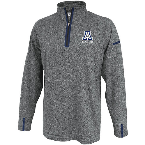 Gray/Navy Pennant 1/4 Zip AHS Girls Soccer