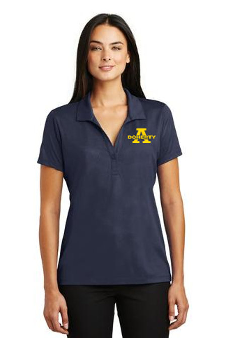 Women's Navy Embossed Posicharge Tough Polo