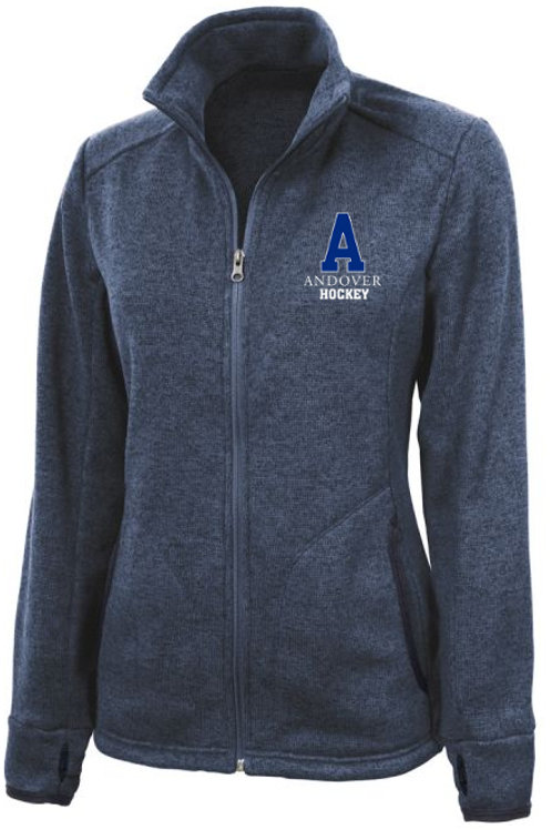 Blue Heather Charles River Full Zip Fleece PA H