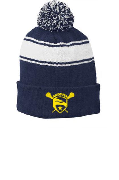 Navy/White Sport Tek Pom Pom Hat