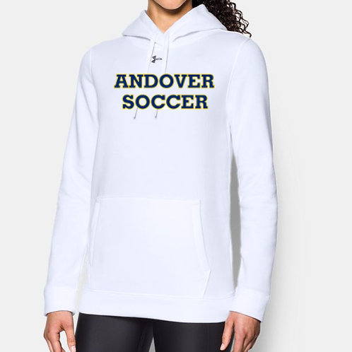 White Under Armour Hustle Hoody AHS Girls Soccer