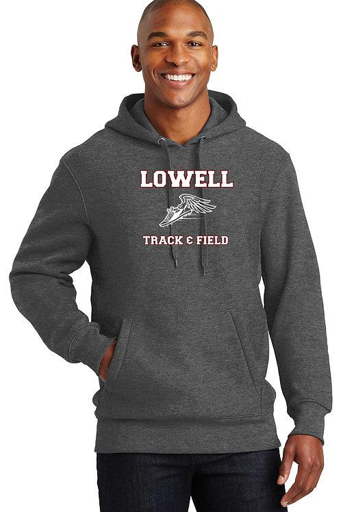 Graphite Heather Sport-Tek Heavy Hoodie Lowell Track