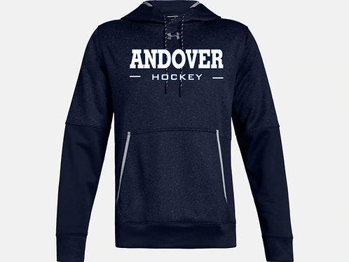 Navy UA Fleece Textured Hoodie PA Hockey