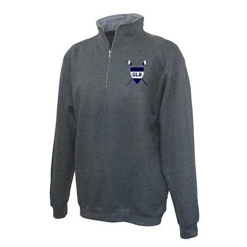 Charcoal Pennant Fleece Quarter Zip