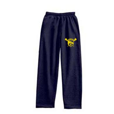 Navy Pennant Open Leg Sweatpants