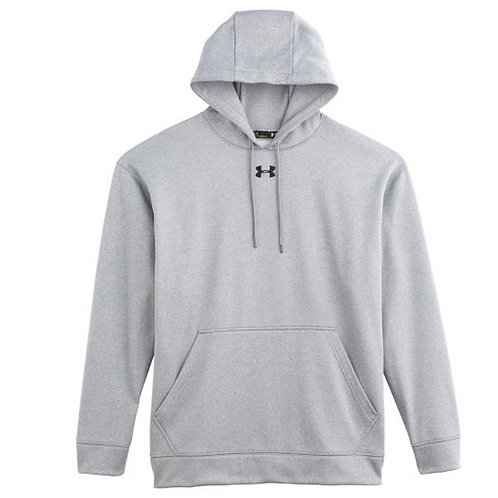 Grey Under Armour Rival Hoodie