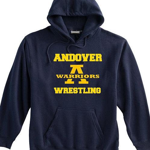 Navy Pennant Hoodie Andover Wrestling