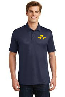 Men's Navy Embossed Posicharge Tough Polo