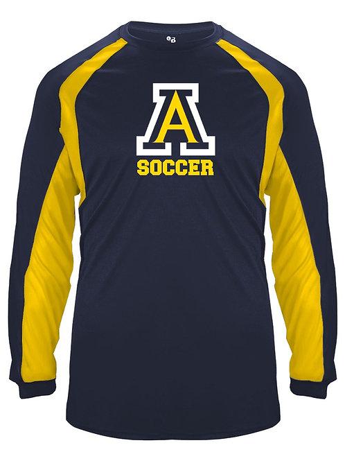 Navy/Gold Badger Sports Hook Tee AHS Boys Soccer