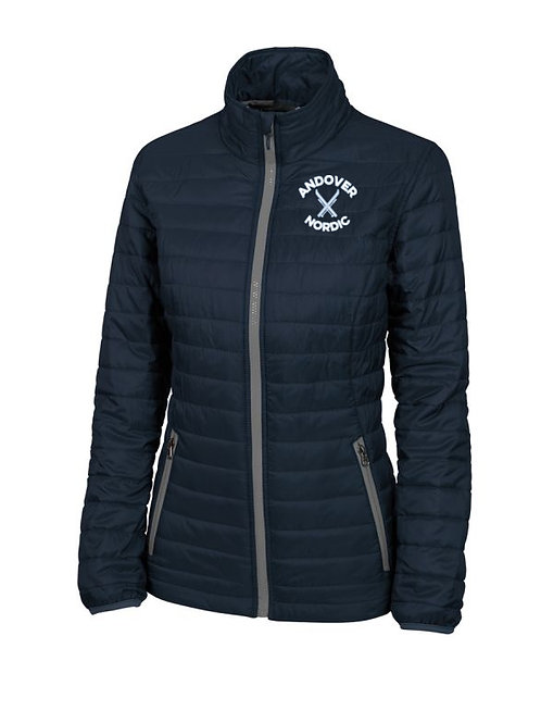 Women's Navy Charles River Lithium Quilted Jacket PA Ski