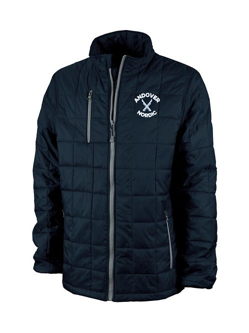 Navy Charles River Lithium Quilted Jacket PA Ski