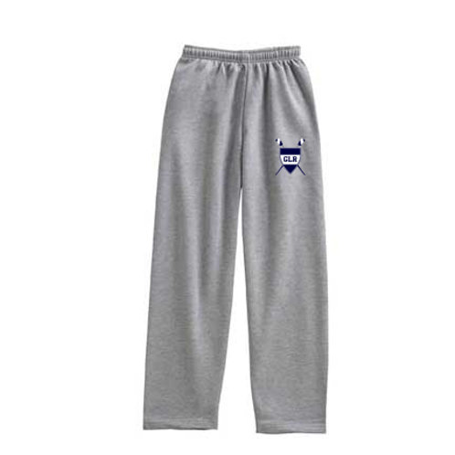 Grey Pennant Open Bottom Sweatpants