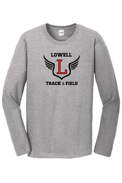 Gildan Grey Long Sleeve Lowell Track