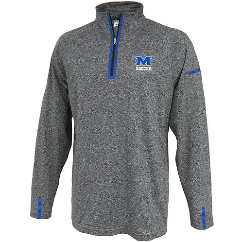 Blue/Gray Pennant 1/4 Zip Methuen Girls Soccer