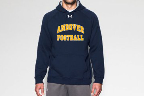 Navy Under Armour Fleece Team Hoodie
