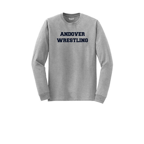 Sports Grey Long Sleeve DryBlend Tee Andover Wrestling